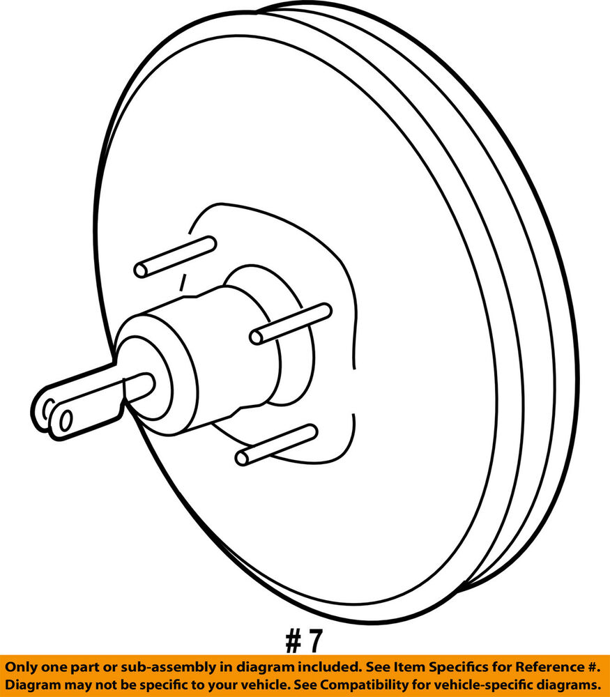 hight resolution of details about ford oem power brake booster at4z2005a