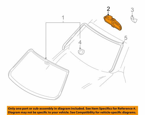 small resolution of details about rear view mirror inside fits hyundai tiburon 01 08 oem 85101 39500 n1