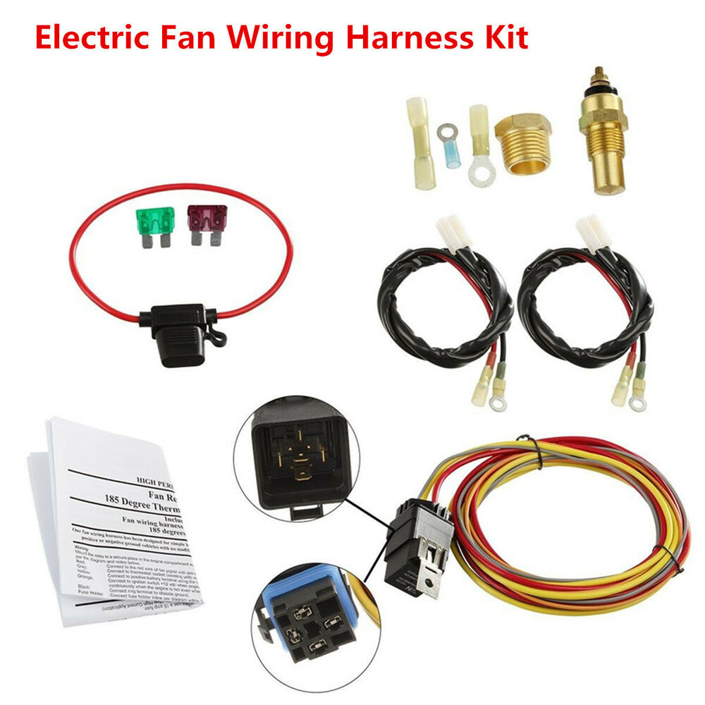 hight resolution of electric fan wiring harness wiring diagram newdual electric engine cooling fan wiring harness 185 165 thermostat
