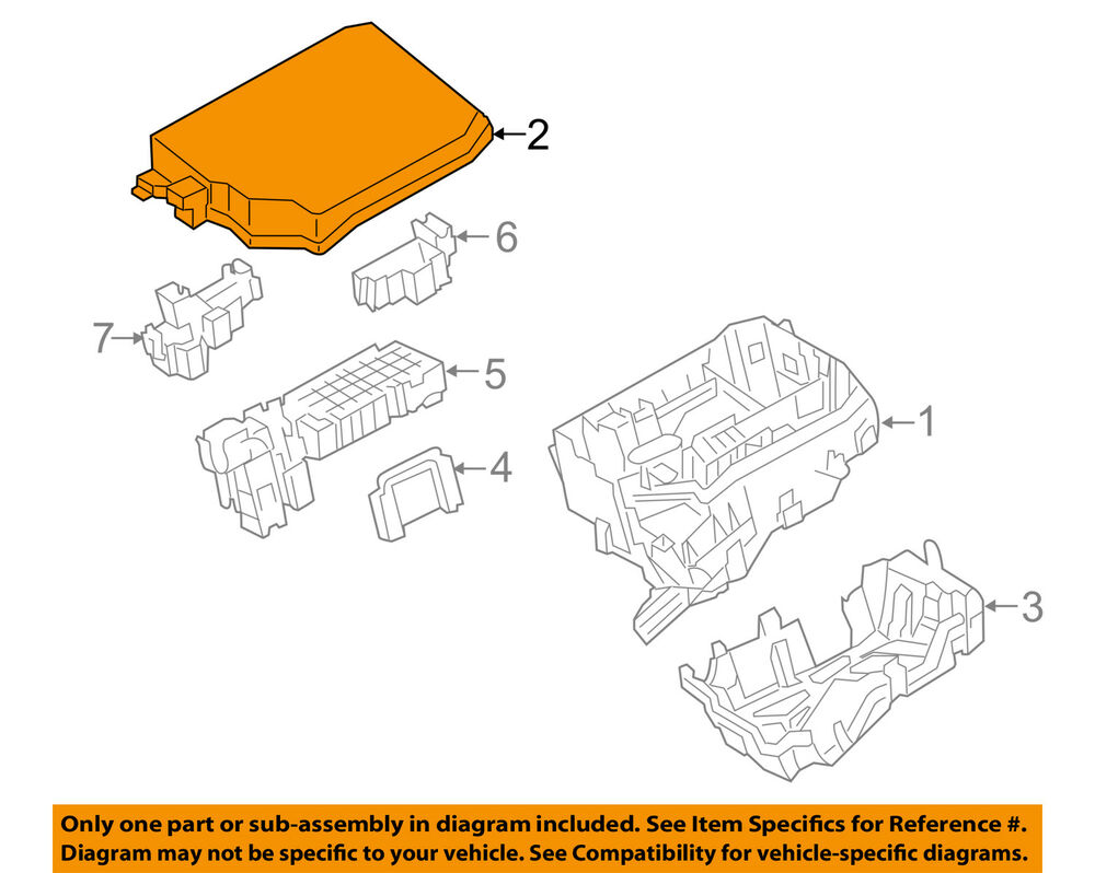 hight resolution of details about toyota oem 14 16 corolla electrical fuse relay box upper cover 8266202660