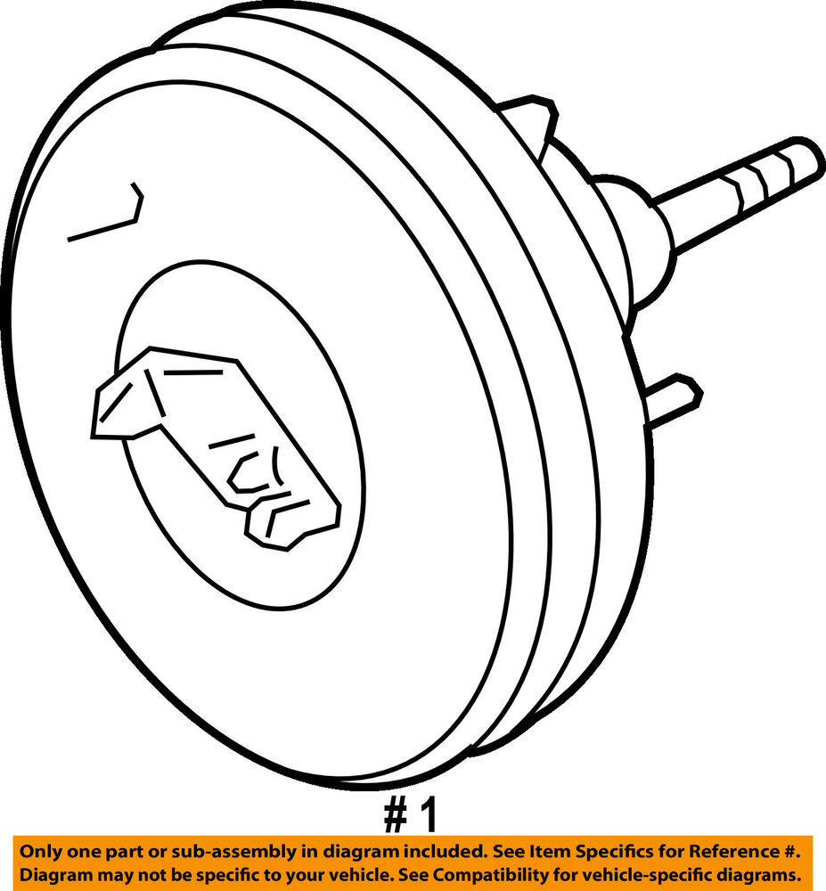 medium resolution of details about ford oem power brake vacuum booster dl3z2005e