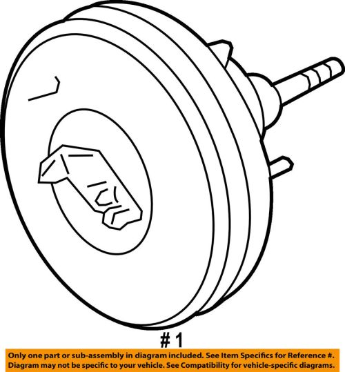 small resolution of details about ford oem power brake vacuum booster dl3z2005e