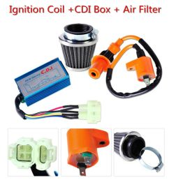 racing ignition coil cdi air filter kit fit for gy6 50 150cc scooter atv go kart 6520447795238 ebay [ 1000 x 1000 Pixel ]