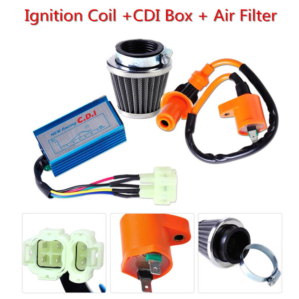hight resolution of racing ignition coil cdi air filter kit fit for gy6 50 150cc scooter atv go kart 6520447795238 ebay