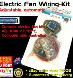 details about new perma cool electric thermo fan wiring kit adjustable temp control permacool [ 1000 x 1000 Pixel ]