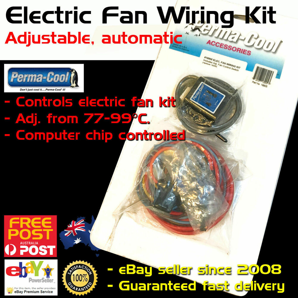 hight resolution of details about new perma cool electric thermo fan wiring kit adjustable temp control permacool