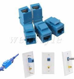 details about 5p cat6 inline rj45 keystone coupler jack adapter socket wall plate patch panel [ 1000 x 1000 Pixel ]