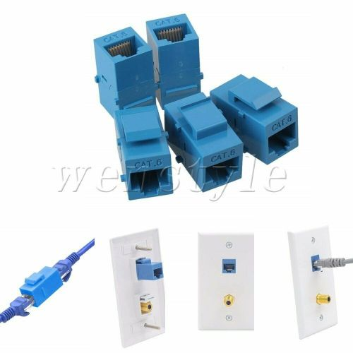 small resolution of details about 5p cat6 inline rj45 keystone coupler jack adapter socket wall plate patch panel