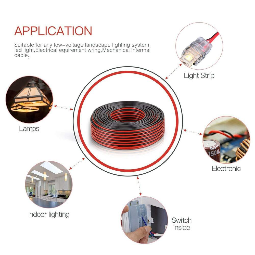 medium resolution of details about 2ft 14 2 awg gauge electrical wire low voltage for landscape lighting system
