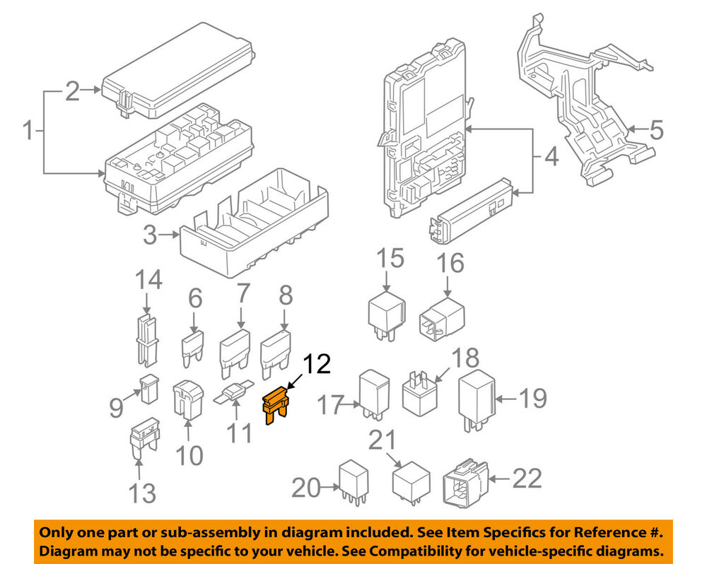 medium resolution of details about ford oem 08 10 e 350 super duty 5 4l v8 fuse 4f2z14a604aa