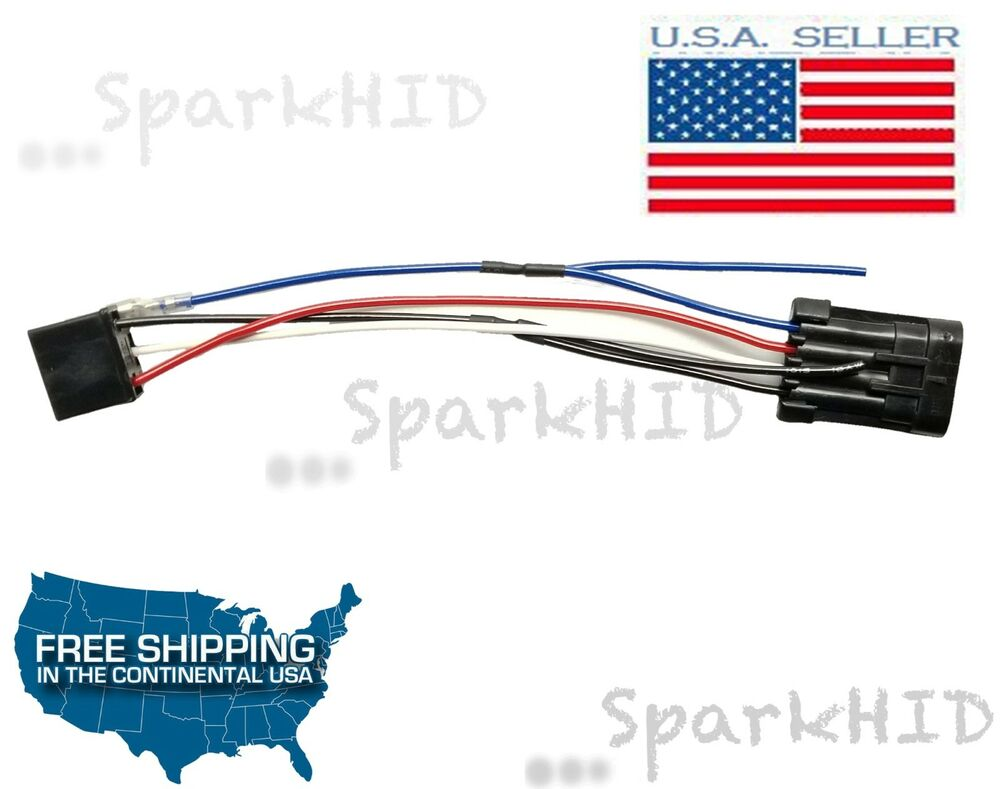 medium resolution of details about harley davidson h4 to 7 led headlight wire harness headlamp adaptor h4 led flhx
