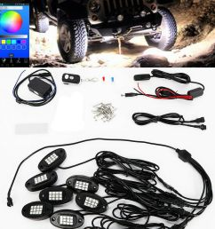 details about 8pcs rgb led under body lighting rock lamp offroad truck boat rc wireless [ 1000 x 1000 Pixel ]