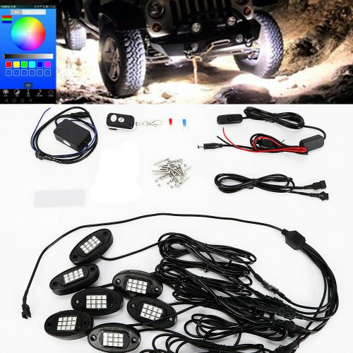 small resolution of details about 8pcs rgb led under body lighting rock lamp offroad truck boat rc wireless