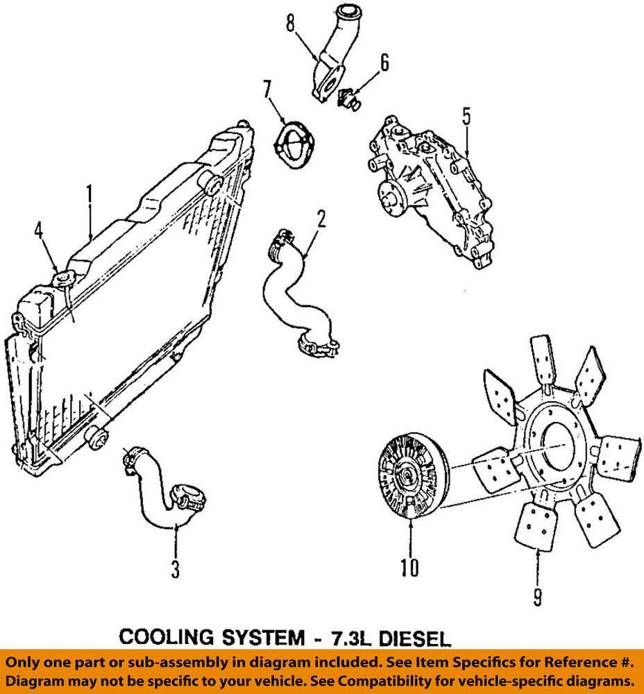 hight resolution of details about ford oem 97 98 e 350 econoline club wagon radiator coolant lower hose f5uz8075be