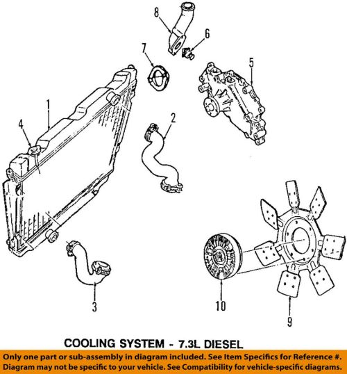 small resolution of details about ford oem 97 98 e 350 econoline club wagon radiator coolant lower hose f5uz8075be