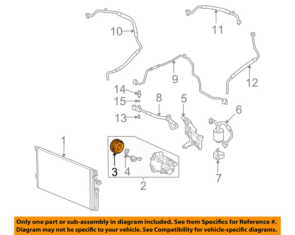 hight resolution of details about saturn gm oem 02 07 vue a c ac compressor clutch plate hub assy 15783641