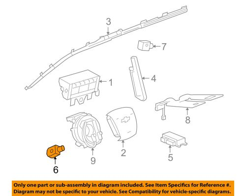 small resolution of details about gm oem airbag air bag srs side impact sensor 13502577