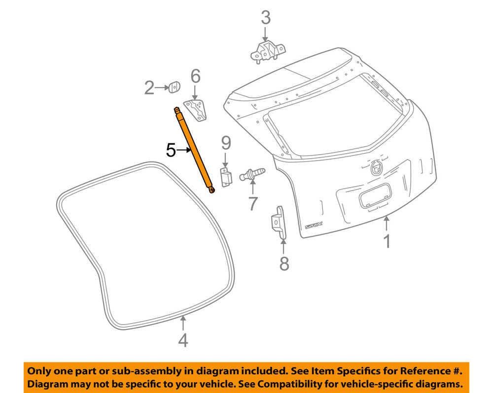 hight resolution of details about cadillac gm oem srx liftgate tail tailgate trunk release latch actuator 23429744