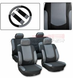 details about for saab black gray polyester mesh durable car seat cover w steering wheel cover [ 1000 x 1000 Pixel ]