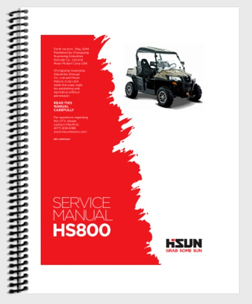 small resolution of hs 800 utv service manual hisun wiring diagram printed book copy ebay