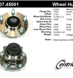 details about wheel bearing and hub assembly premium hub assemby front fits 04 11 mazda rx 8 [ 970 x 852 Pixel ]