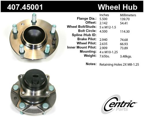 small resolution of details about wheel bearing and hub assembly premium hub assemby front fits 04 11 mazda rx 8