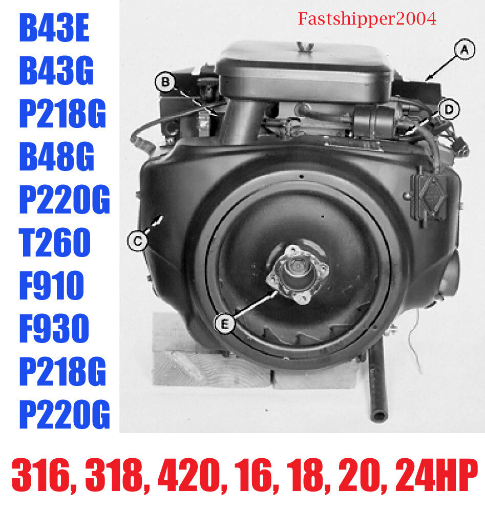 medium resolution of details about onan engines service manual b43e b43g p218g b48g p220g 316 318 420 16 18 20 24hp