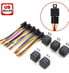details about 5 pack 12v 30 40 amp 5 pin spdt automotive relay with wires harness socket set [ 1000 x 1000 Pixel ]