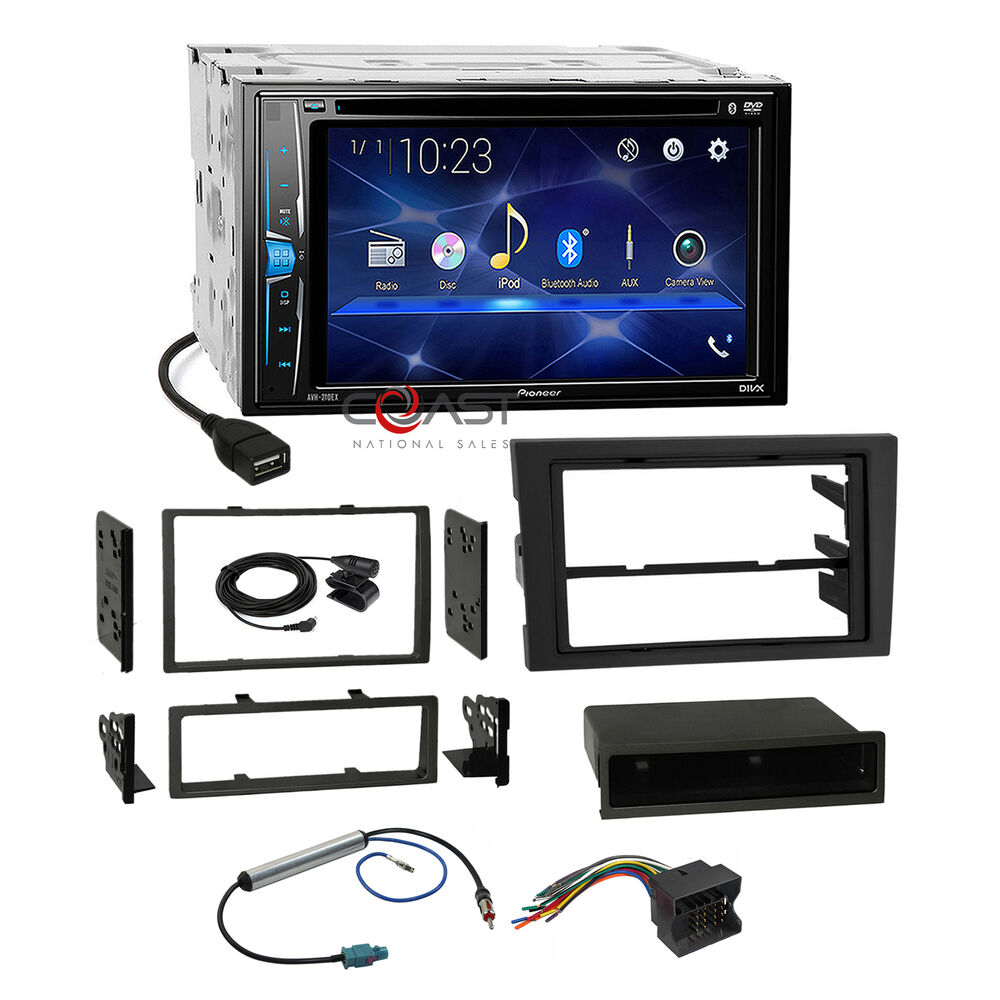 medium resolution of details about pioneer dvd usb bt stereo dash kit harness for 02 08 audi a4 s4 symphony radio