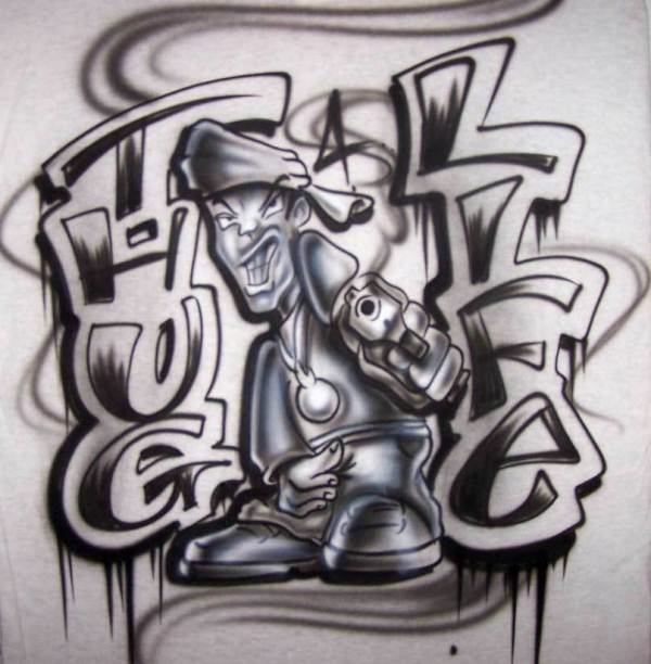 Graffiti Airbrush Shirts Designs