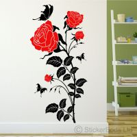 LARGE ROSE FLOWER Wall Sticker / Wall Decal | eBay