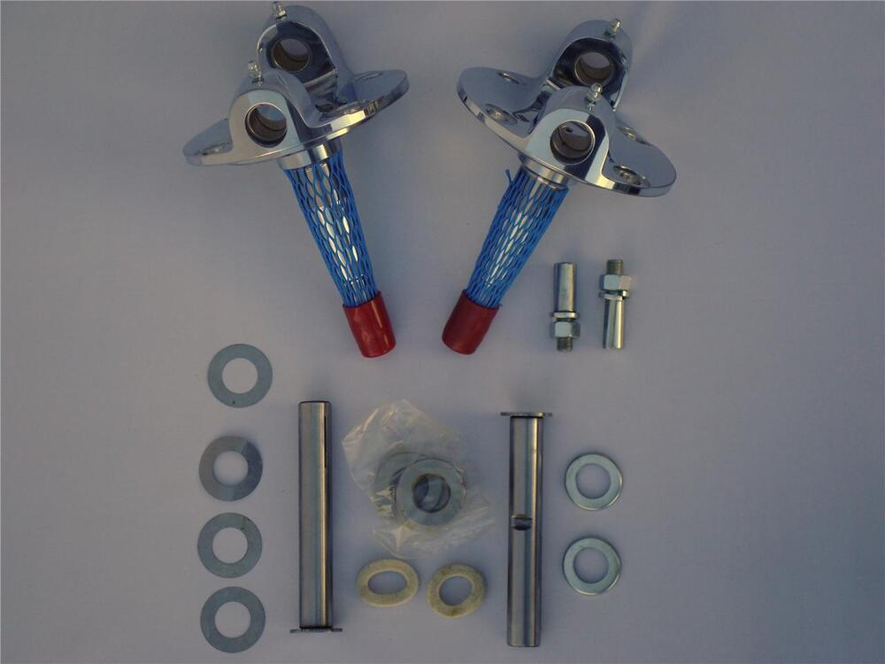 1948 Ford CHROME Straight Axle Spindles PAIR W
