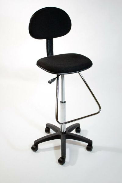 tall adjustable office chair Black Drafting Counter Height Stool Chair | Art Bank