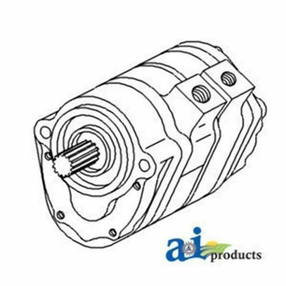 70248736 Hydraulic Pump Dual Stange Fits Allis Chalmers