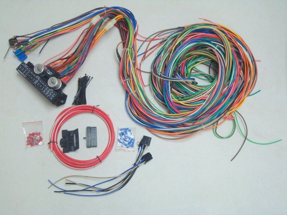 12v 24 Circuit 15 Fuse Street Hot Rat Rod Wiring Color