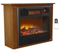 Lifesmart Infrared Fireplace Heater LS IF1500 Mofp w ...