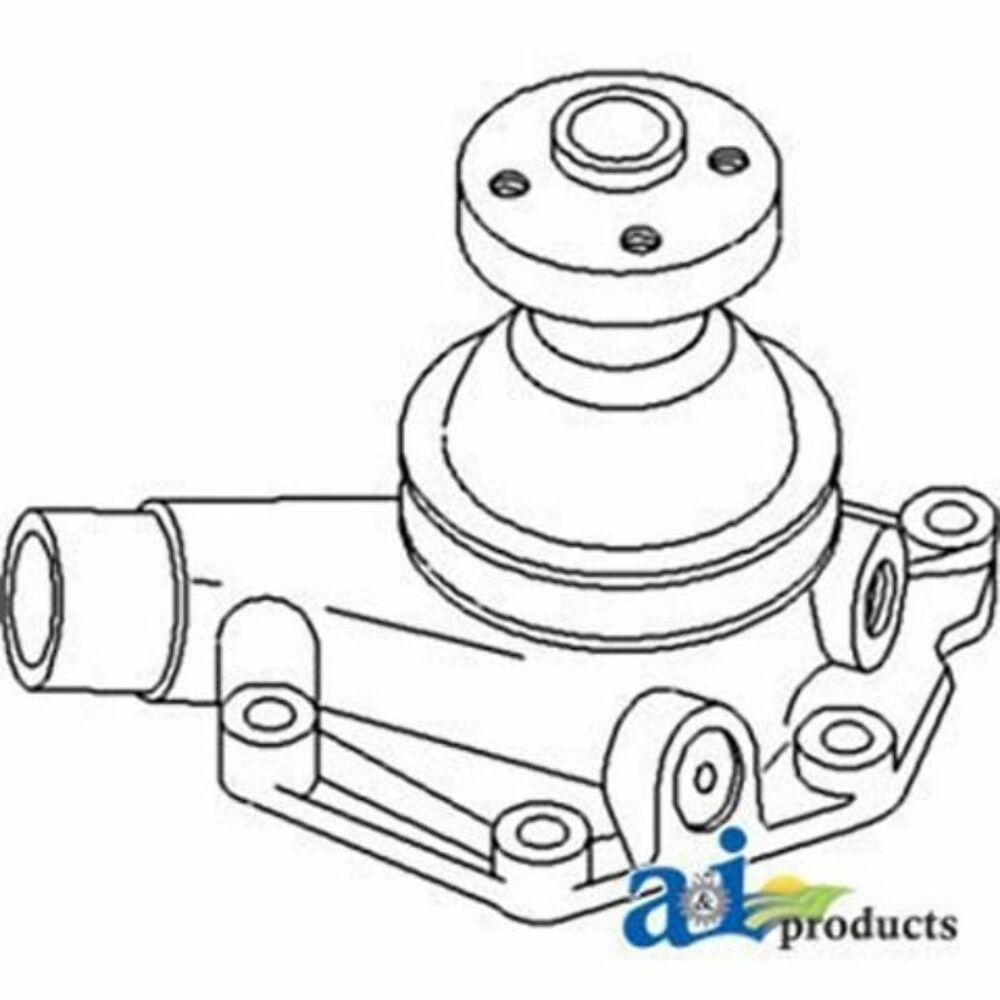 104354AS Water Pump w/ Pulley Fits White/ Oliver/ Mpl