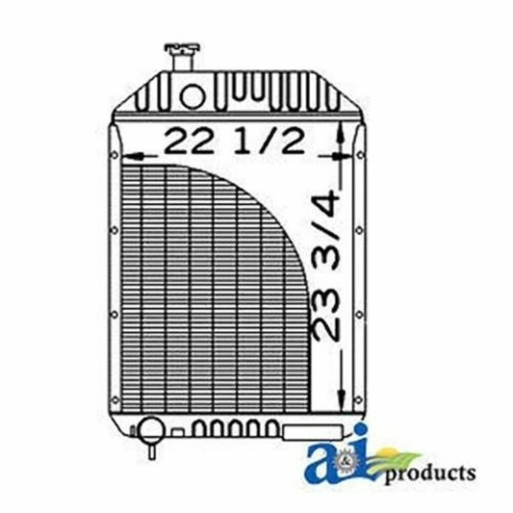 A66330 Radiator Case-IH Tractor: 1070,1170,1175,1270,1370