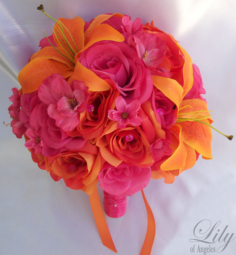17pcs Wedding Bridal Bouquet Bride Flower Decoration