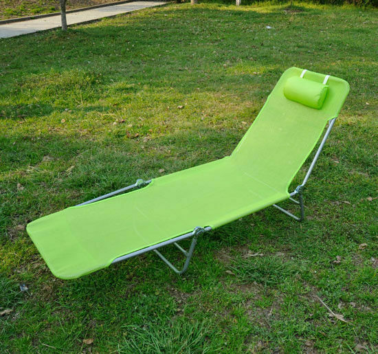 Foldable Chaise Lounge Adjustable Patio Cot Reclining