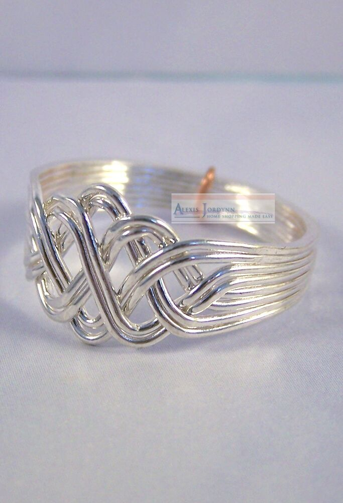 8 Band Open Weave Princess Style Turkish Puzzle Ring