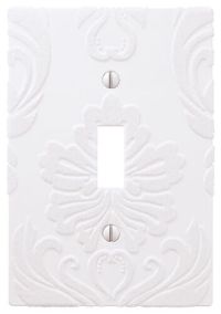 Wallplate Switch Plate & Outlet Covers Flocked Damask ...