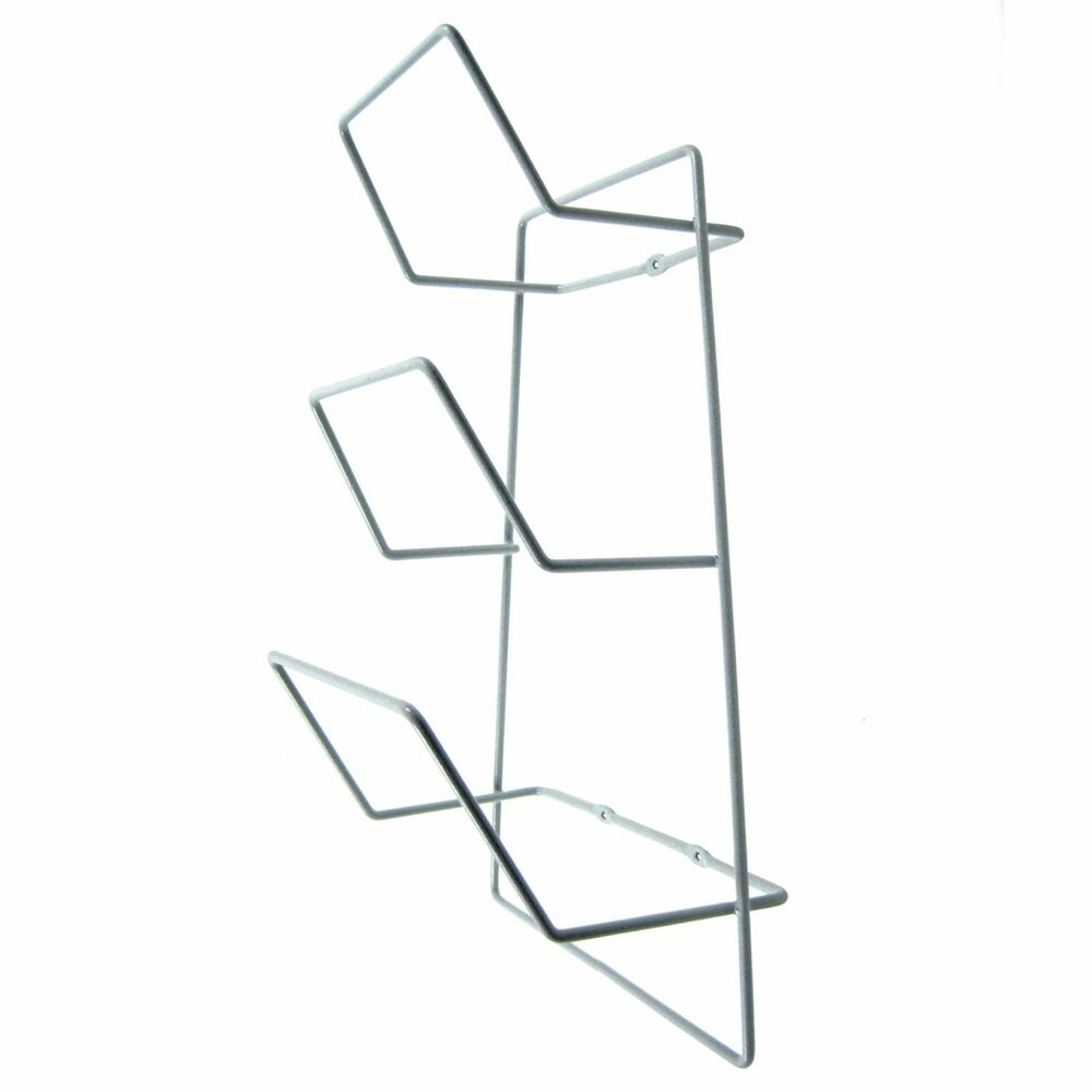New Steel Wire Wall Mounted Fry Pan Organize Rack Under