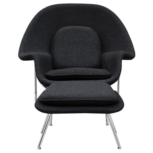 Wool Womb Chair and Ottoman  eBay