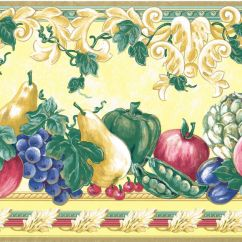 Grapes And Wine Kitchen Decor Charlotte Cabinets Yellow Gold Victorian Fruit Grape Pear Apple Tuscan ...