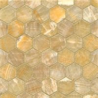 Sweet Honey Onyx Hexagon Mosaic Polished Tiles (Box of 10