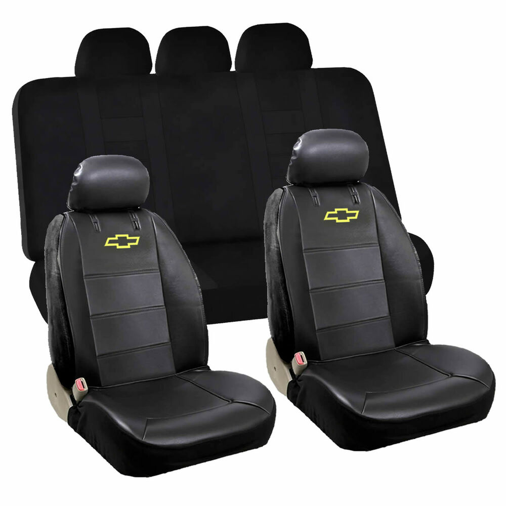 6pcs Chevy Chevrolet Front Low Back Seat Cover Rear Bench