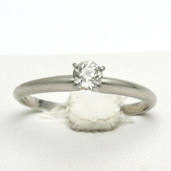Estate Platinum Miners cut Diamond Solitaire Engagement