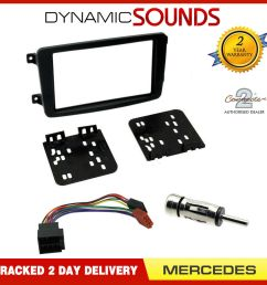 details about double din car cd stereo fascia fitting kit for mercedes c class w203 00 04 [ 1000 x 1000 Pixel ]