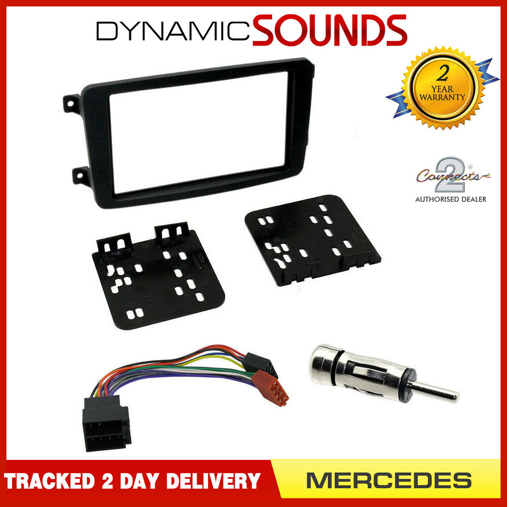 hight resolution of details about double din car cd stereo fascia fitting kit for mercedes c class w203 00 04